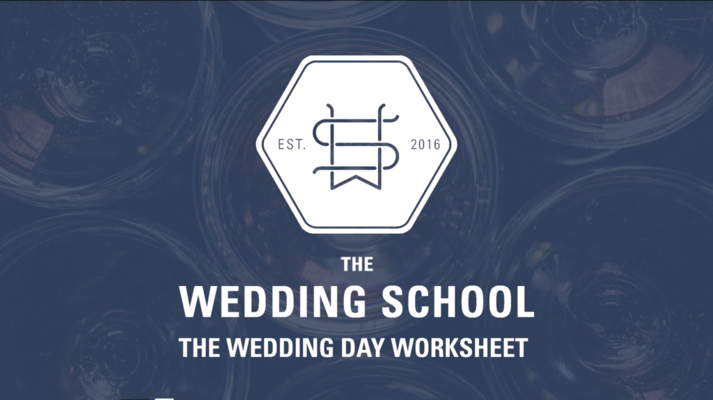 wedding day worksheet