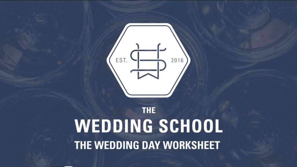 wedding day worksheet