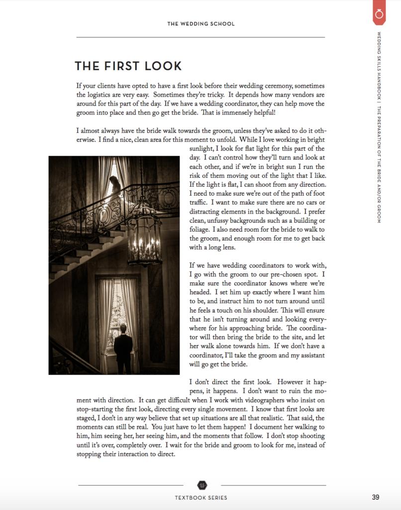 Wedding Skills Handbook for Wedding Photographers by Susan Stripling for the wedding school