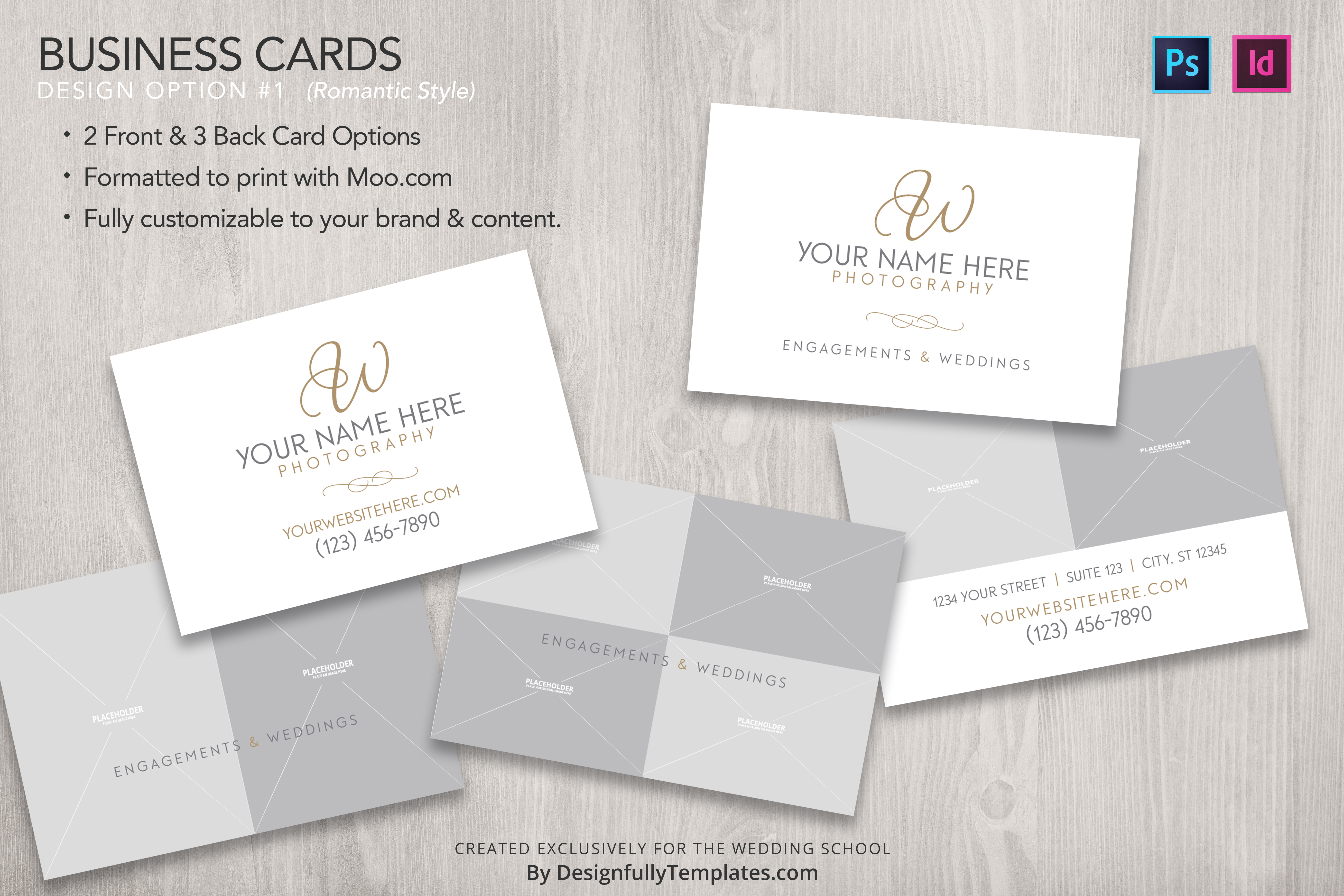 Templates for wedding photographers bundle the wedding school business cards for wedding photographers awesome templates for wedding photographers accmission Choice Image