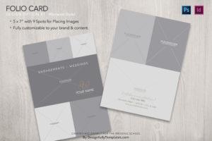folio card Templates For Wedding Photographers