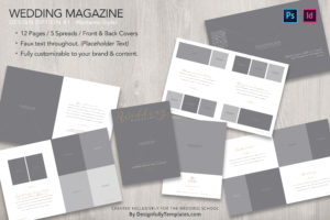 magazine Templates For Wedding Photographers