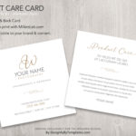 product care card Templates For Wedding Photographers
